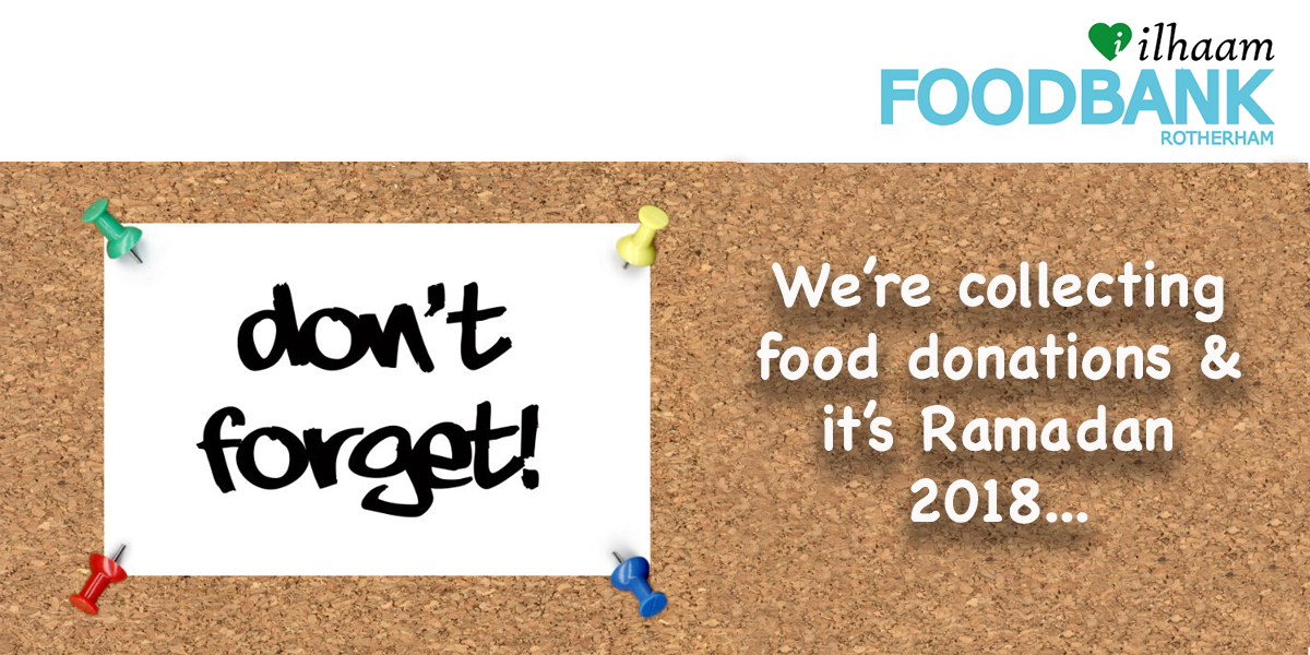 Collecting for June's food donation
