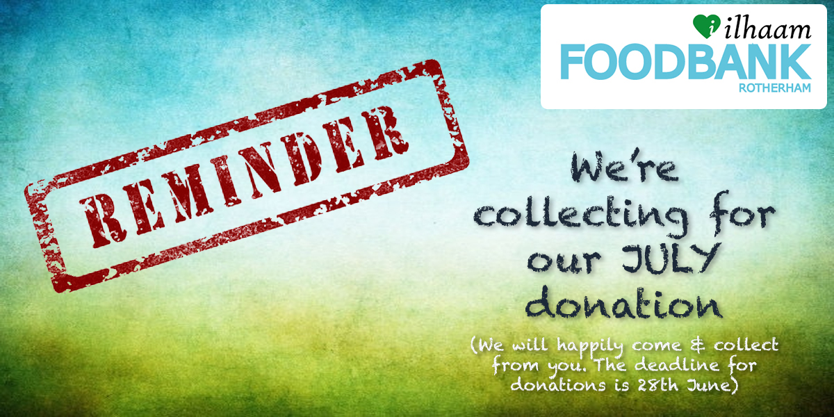 Collecting for July's Donation