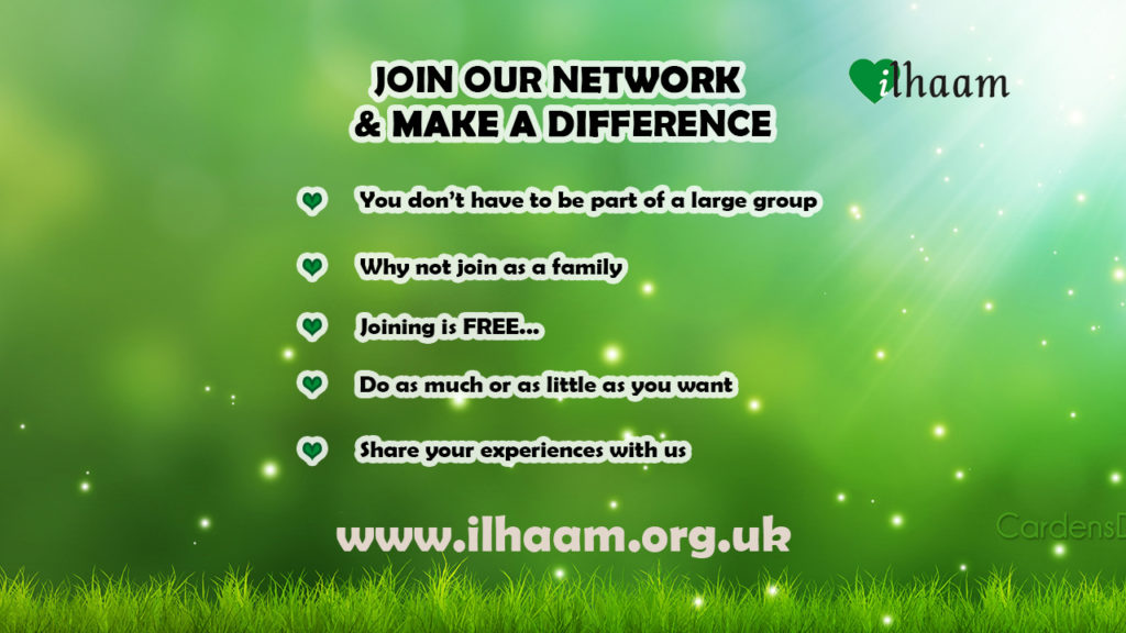 Join our Ilhaam network and make a difference